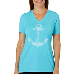 Reel Legends Petite Anchor Screen Print T-Shirt