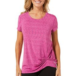 Reel Legends Petite Keep It Cool Space Dye Knot Front Top