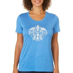 Reel Legends Petite Sea Turtle Mandala T-Shirt