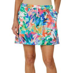 Reel Legends Petite Adventure Colorful Scribble Skort