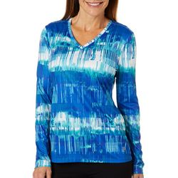 Reel Legends Petite Reel-Tec Textured Graphics Top