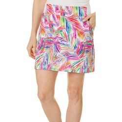 Reel Legends Petite Adventure Jazzy Palms Pull On Skort