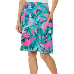 Reel Legends Petite Keep It Cool Rainforest Cabana Skirt