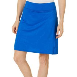 Reel Legends Petite Harbor Crackle Deboss Pull On Skort