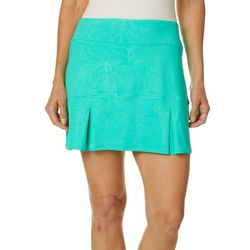 Reel Legends Petite Keep It Cool Coral Deboss Skort