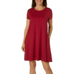 Reel Legends Petite Elite Comfort Solid Sundress