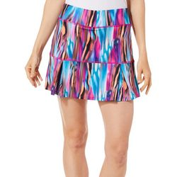 Reel Legends Petite Keep It Cool Colorful Striations Skort