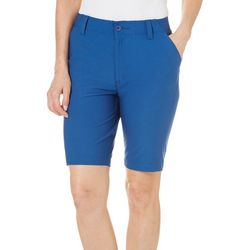 Reel Legends Petite Solid Outdoor Bermuda Shorts