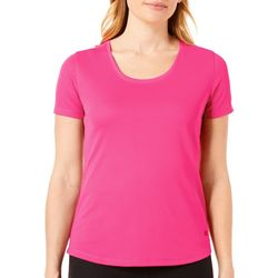 Reel Legends Petite Freeline Solid Scoop Neck Top