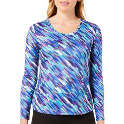 Reel Legends Petite Freeline Diagonal Painter Stripe Top