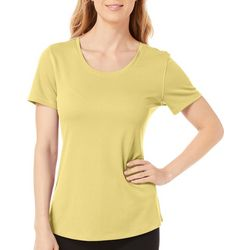 Reel Legends Petite Freeline Solid Shimmer Top