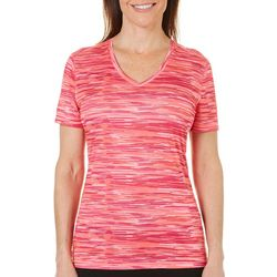 Reel Legends Petite Reel-Tec Coral Space Dye Print Top