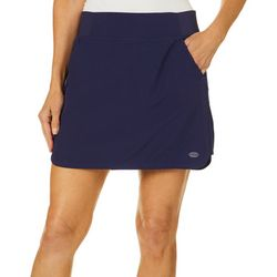 Reel Legends Petite Solid Adventure Pull On Skort