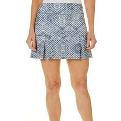 Reel Legends Petite Keep It Cool Geometric Print Skort
