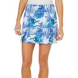 Reel Legends Petite Keep It Cool Tropical Dreams Print Skort