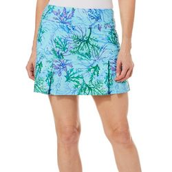 Reel Legends Petite Keep It Cool Coral Paradise Skort