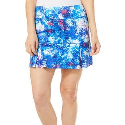 Reel Legends Petite Keep It Cool Organic Splatter Skort