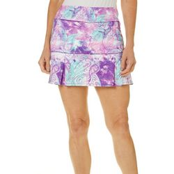 Reel Legends Petite Keep It Cool Textured Paisley Skort