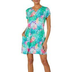 Reel Legends Petite Keep It Cool Rainbow Succulent Dress