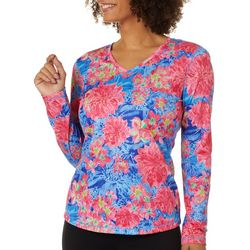 Reel Legends Petite Freeline Bright Floral Top
