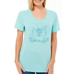 Reel Legends Petite Life's A Ride Graphic Print T-Shirt