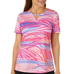 Reel Legends Petite Freeline Abstract Waves Shimmer Top