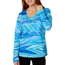 Petite Freeline Abstract Water Shimmer Top