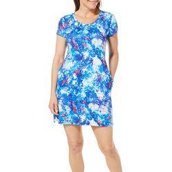 Reel Legends Petite Keep It Cool Organic Splatter Dress