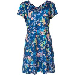 Reel Legends Petite Keep It Cool Floral Dress