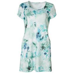 Petite Keep It Cool Palms Dress