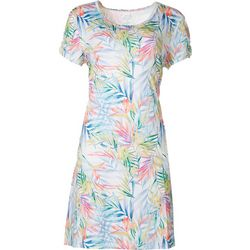 Reel Legends Petite Keep It Cool Palm Bloom Dress