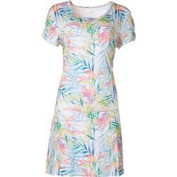 Petite Keep It Cool Palm Bloom Dress