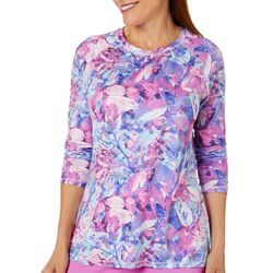 Reel Legends Petite Keep It Cool Colorful Foliage Top