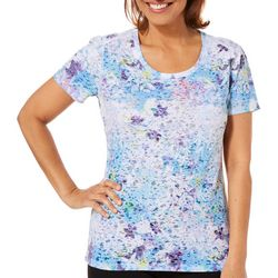 Reel Legends Petite Reel Fresh Colorful Blossom Burnout Top