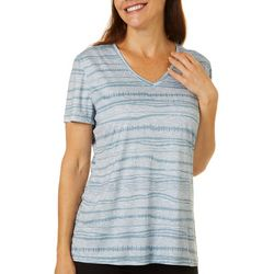 Reel Legends Petite Reel-Tec Monument Stripes Print Top