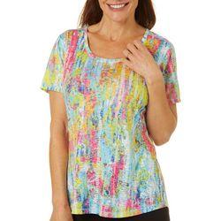 Reel Legends Petite Color Tracks Burnout T-Shirt