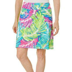 Reel Legends Petite Harbor Sketched Palm Pull On Skort