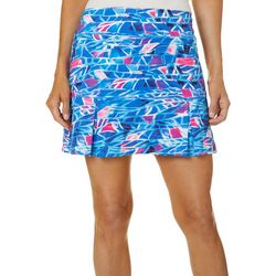 Petite Keep It Cool Retro Waves Skort