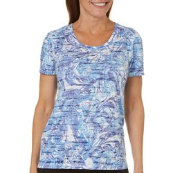 Reel Legends Petite Swirled Burnout T-Shirt