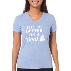 Reel Legends Petite Reel Fresh Better On A Boat T-Shirt