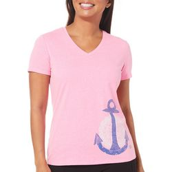 Reel Legends Petite Reel Fresh Anchor T-Shirt