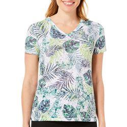 Reel Legends Petite Reel Fresh Jungle Leaves T-Shirt