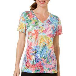 Reel Legends Petite Reel Fresh Colorful Scribble T-Shirt