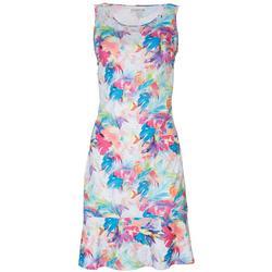 Petite Reel-Tec Tropical Ruffle Dress