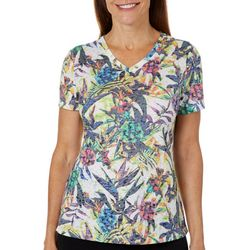 Reel Legends Petite Into The Tropics Burnout T-Shirt