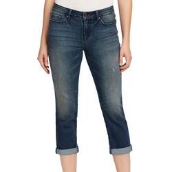 Vintage America Womens Roll Cuff Ankle Jeans