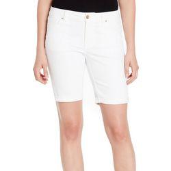 Vintage America Womens Solid Roll Cuff Denim Shorts