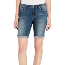 Vintage America Womens Roll Cuff Denim Shorts