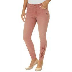 Vintage America Womens Wonderland Embroidered Skinny Jeans
