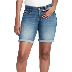 Vintage America Womens Denim Roll Cuff Shorts